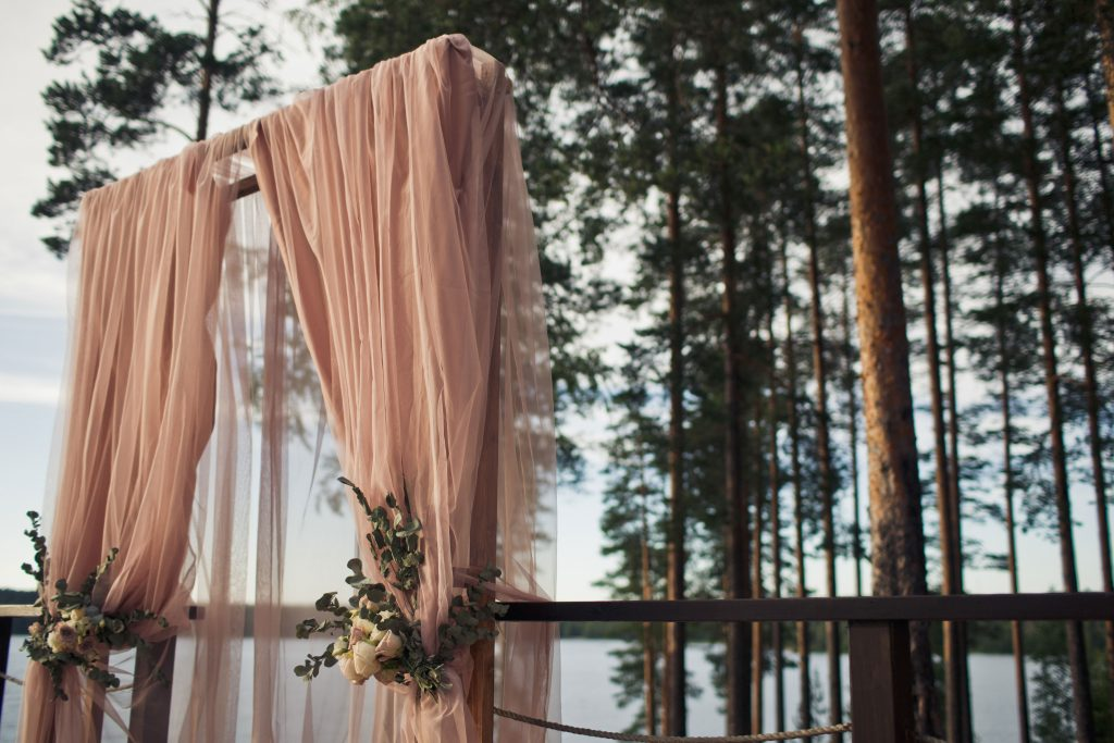 Pink-Drapes-Wedding-Arch